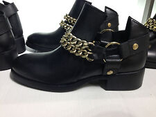 ZARA LEATHER ANKLE BOOTS WITH CHAINS 36-41  Ref. 2160/001
