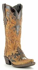 Women's Lucchese Dry Leaf And Granito Boots M5725 Western Leather