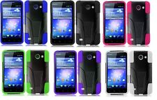 For ATT Huawei Tribute Fusion 3 Y536A1 Rugged Hybrid Armor Stand Case