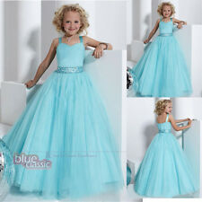 Christening Straps Pageat Prom Bridesmaid Ball Gowns Wedding Flower Girl Dresses