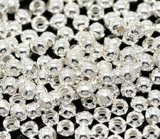 Wholesale Lots Silver Plated Smooth Round Spacers Beads 3mm