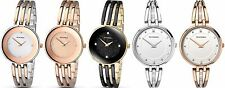 Sekonda Editions Stone Set Dial Semi Bangle Bracelet Ladies Watch Rose Gold