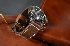 MA WATCH STRAP 24 MM REAL CALF LEATHER F.PANERAI HANDMADE VINTAGE - OLD BROWN II