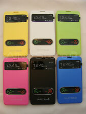 Samsung Galaxy Note 3 Ultra Thin Answer & Talk Leather Back Battery Cover Case