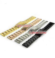 18mm| 20mm Man's 316L Pure Solid Stainless Steel Watch Bands Strap Bracelets S3