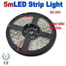 DC24V 5M SMD 5050 300LEDs 60leds/M Non/Waterproof IP65 Flexible LED Strip Light