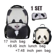 Cool Fashion Animal Backpack.Lunch Bag,Pencil Bag School Set For Boys & Girls