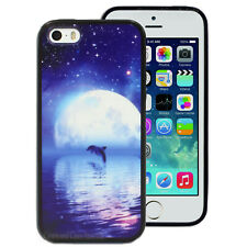 NEW Dolphin Moon Hard Case Cover for Apple iPhone 4S 4 5 5S 5C 6 6S Plus