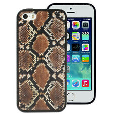 Brown Snake Skin Printed Case for Apple iPhone 4S 4 5 5S SE Cover