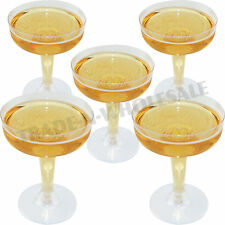 DISPOSABLE COCKTAIL GLASSES, PLASTIC CHAMPAGNE, PARTY, MARGARITA, WEDDING GOBLET