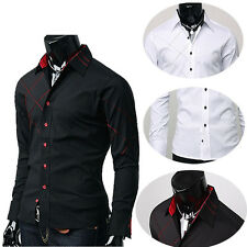 CHEAP SALES Men's Dress Shirts Slim Fit Patched Casual Formal Work Office Shirts