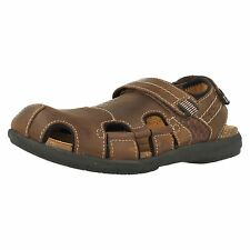Mens Clarks UnBryman Bay Brown Leather Casual Closed Toe Sandals G Fitting