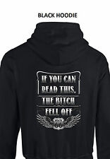 If You Can Read This, The Bitch Fell Off Biker Rt 66 PULLOVER HOODIE Small - 5XL