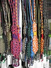 Custom Made Keychain/ID Paracord Necklace Lanyard Pop Barrel Clasp -U-Pick Color