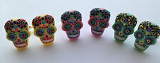 DAY OF THE DEAD FLOWER TATTOO MEXICAN RESIN CUFFLINKS HALLOWEEN
