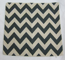 Chevron Striped Accent Decorative Linen Cotton Throw Pillow Cover Cushion 17x17""