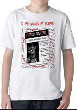 Custom Help Wanted Five nights at Freddys fnaf Adult or Kids T-Shirt