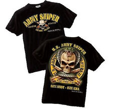 "NEW US Army Sniper ""One Shot, One Kill"" Military T-Shirt by Black Ink Design"