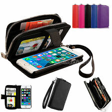 New All in One Magnetic Zip Wallet Leather Case Cover For Apple iPhone 5S 5G 5
