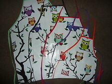OWLS BY DAY PVC WATERPROOF ADULT AND CHILDRENS FULL APRON IN 5 SIZES BRAND NEW