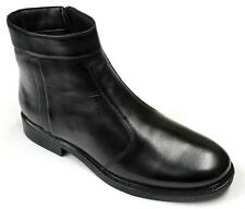 Men's New Black Real Leather Zip Fastening Dealer Boots / Chelsea Ankle Boots