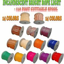 """150 Foot Rope Light 2 Wire 110V Lighting Outdoor Patio Cabinet Christmas - 1/2"""""""