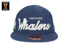 Mitchell & Ness Hartford Whalers Script Fitted Blue NHL Throwback Vintage