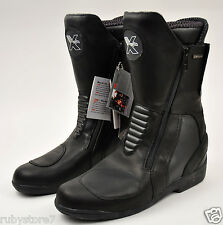 Men's Black Motorcycle Bike Boots Leather Waterproof Reflective 3X Membrane 9030