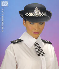 Ladies Instant Police Officer Kit Hat Badge Tie Set Costume Easy Quick Emergency