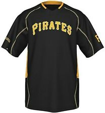 Pittsburgh Pirates Majestic Men's Fast Action Jersey Black Big And Tall Sizes