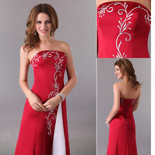SEXY Long Wedding Evening Formal Party Ball Gowns Prom Bridesmaid Ceremony Dress