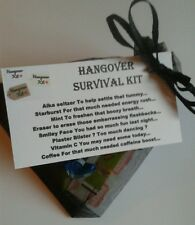 HANGOVER Survival Kit - Stag Hen Bride To Be Wedding Fun Novelty Gift Keepsake