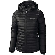COLUMBIA WOMENS PLUS SIZE 1X, 2X, 3X INSULATED HOODED WINTER  JACKET/COAT BLACK