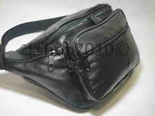 New 6 Pockets Leather Waist Bag Fanny Pack Travel Bag Adjustable Strap  - 559A