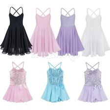 NEW Girl Kid Gymnastics Ballet Dance Dress Skate Tutu Skirt Leotard Clothes