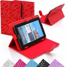 Universal Pelle Stand strass Diamond Cover Custodia Per 9 10 POLLICI TABLET