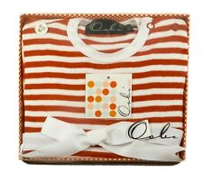 Oobi Baby Red Stripe Ribbon Dress One Piece - Super Cute! 100% Cotton!