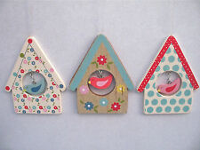 GISELA GRAHAM EASTER POLKA DOT/FLORAL BIRDHOUSE HANGING DECORATION