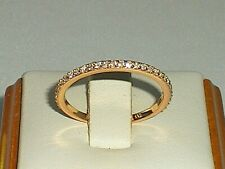 Ladies 925 Sterling Silver & 18 Carat Rose Gold White Sapphire Eternity Ring