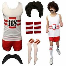 118 FANCY DRESS WOMENS MENS HEN DO STAG MARATHON VEST SHORT RETRO COSTUME LOT