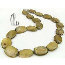 AU SELLER Chic Handmade burnish Grey Green Mother of pearls Necklace 010407