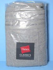 Hanes Classics Big and Tall Mens Underwear Gray Cotton BOXER BRIEFS 3/Pkg NIP