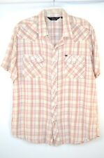 NEW Urban Outfitters SALT VALLEY WESTERN SHIRT Brown Plaid Pearl Snap Button Fro