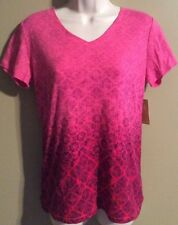"Women's ""Made For Life"" Activewear top  shirt Pink/Purple  NWT Size S"