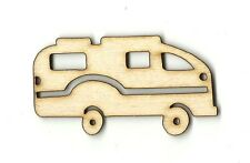 Motorhome RV Camping  Unfinished Wood Shape Craft Laser Cut Out DIY CAR673