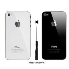 NEW Glass Replacement Back Rear Battery Cover for Apple iPhone 4 4S White/Black