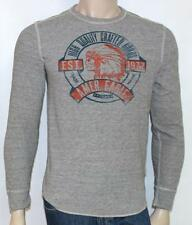 American Eagle Outfitters AEO Heritage Graphic Thermal Mens Gray Shirt New NWT