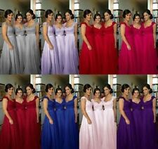 New Long Bridesmaid Evening Prom Formal Party Dress Chiffon Gown Wedding Dresses