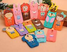 Cute 3D Cartoon Animal Soft Silicone Case Cover For Samsung Galaxy S3 S4