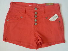 Womens AEROPOSTALE High-Waisted Color Wash Denim Shorty Shorts NWT #9633